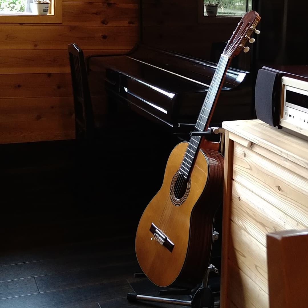 が好き  今日の はBGMはCDですがギターの音が流れています。  夏の日差しとギター、蝉の声とギター、雷の音とギター、夕立ちの音とギター  どの組み合わせも好きですね  ギターの音色を聴きながら ?  この夏も